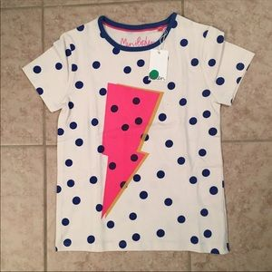 NEW! Mini Boden Bolt Layering Tee: 8-9Y